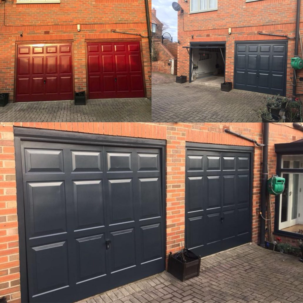 Garage Door Resprays On Site Spray Painters Cladding Spray