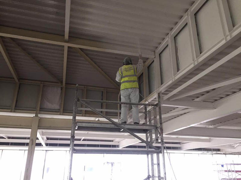 Ceiling Void Soffit Resprays On Site Spray Painters
