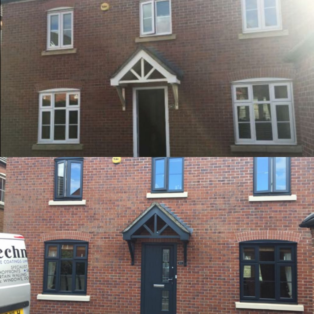 Upvc Windows Spray Painting Anthracite Grey Window Spraying