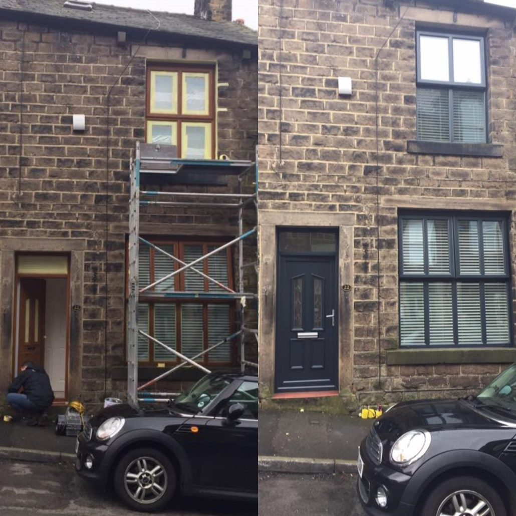 Anthracite Grey Window Spraying