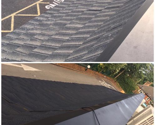 McDonalds roof respray painting