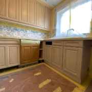 kitchen units resprayed